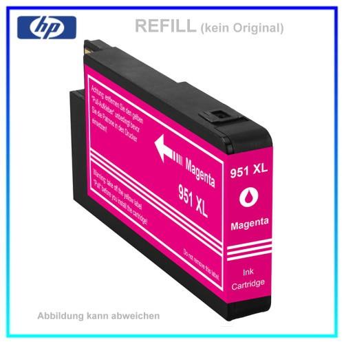 REF951MXL - 951MXL - Refill Tintenpatrone Magenta für HP - CN047AE - Inhalt ca. 26ml