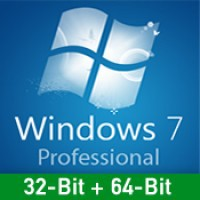 Windows 7 Professional - Vollversion - 32-Bit/64-Bit - nur Download Version