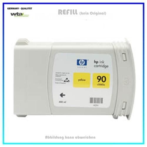 C5065A Nr. 90 Refill Tintenpatrone Yellow HP C5065A Design Jet 4000, 4020, 4500, 4520, Inh. 400 ml