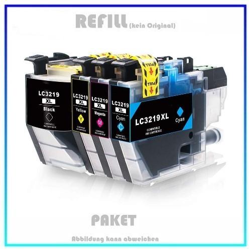 Multipack LC3219XL Alternativ Tinte für Brother - LC3219XL, Patentsicher, 1x3.000 S. + 3x1.500 S.