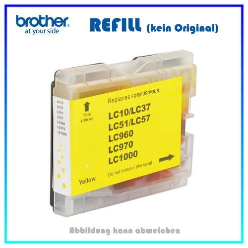 LC1000Y (BULK) Tintenpatrone Yellow f. Brother - DCP 130C - 135C - 150C - 330C - 540CN - 750CW - FAX