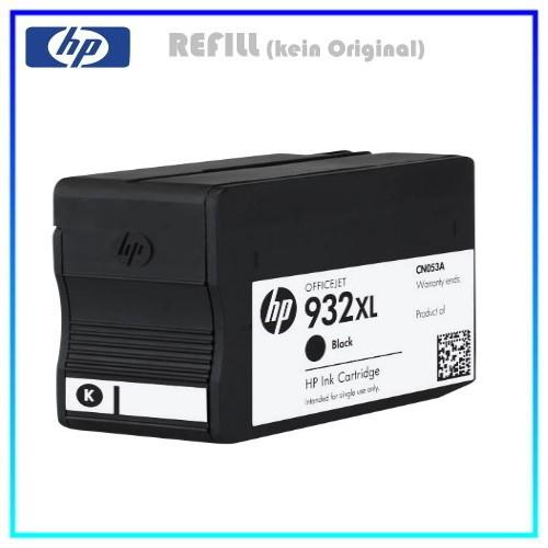 REF932BKXL - Refill Tintenpatrone Black 932XL für Drucker HP - CN053AE - OfficeJet Pro 6100, 40 ml.