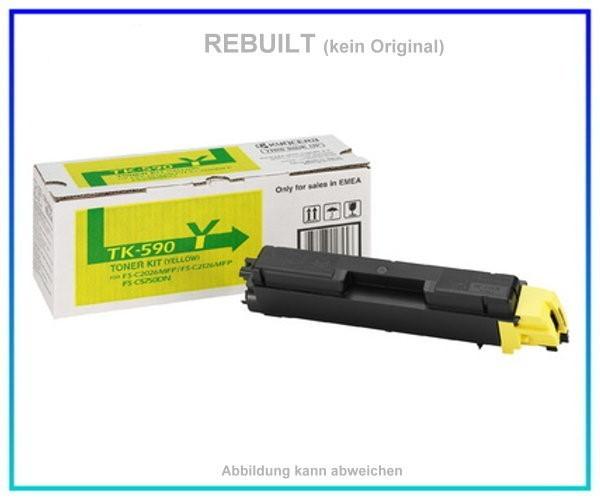 TONTK590Y Toner Yellow mit Chip f. Kyocera-Mita FS-C 2026 MFP, FS-C 2126 MFP, FS-C 2526, 5000 Seiten