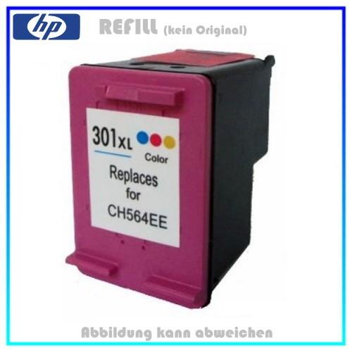 REF301CXL Refill Tintenpatrone Color - HP CH564EE - passend für HP Deskjet 1000,1050,2050,Envy,12ml