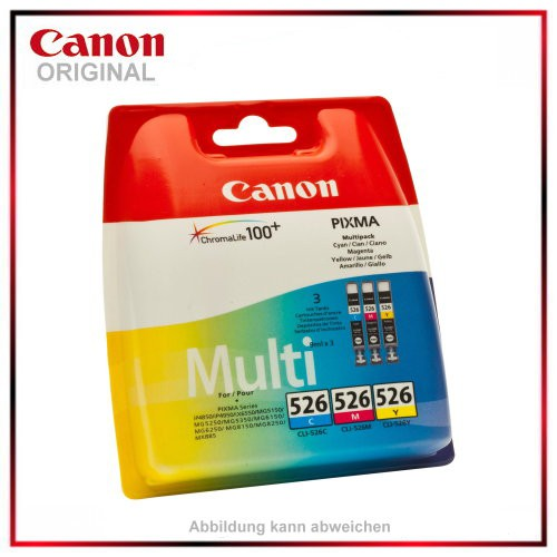 CLI526CMY - 4541B006 - Multipack Cyan - Magenta - Yellow - original Tintenpatrone f. Canon PIXMA iP4
