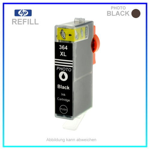 BULK 364PBK Alternativ Tintenpatrone Photo Black für HP CB322E - HP364PBK - Inhalt ca. 13ml (kein O