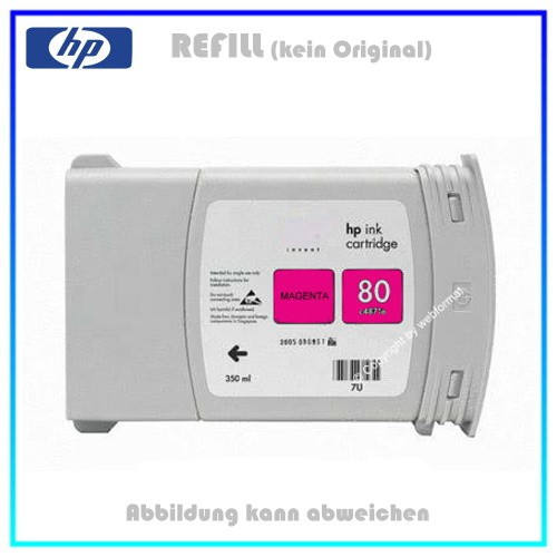 REFC4847A Refilltintenpatrone Magenta für HP C4847A passend für HP DNJ1050 - Designjet 1050C, 350ml