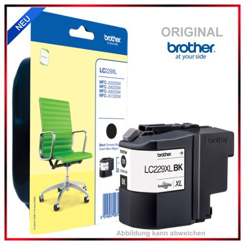LC229XLBK - LC229XL - LC-229XLBK Original Black Tinte f. Brother - MFC-J 5625 DW - MFC-J 5320 DW