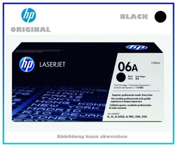 C3906A, 06A, EP-A, Original Tonerkartusche Black für HP C3906A - Inhalt 2.500 Seiten.