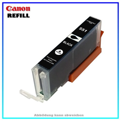CLI551BKXL (mit Chip) Alternative Canon Tintenpatrone (schmal) Black - 6508B001 - Inhalt ca. 15ml