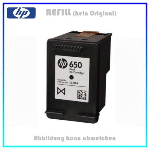 REF650XL Refill Tintenpatrone Black für HP - CZ101AE - Inhalt ca. 20ml (kein Original)