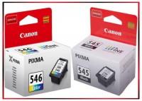 Multipack PG545/CL546, 8287B005 Original Black + Color Tinte Canon MG 2450, MG 2550, 2 x 180 Seiten