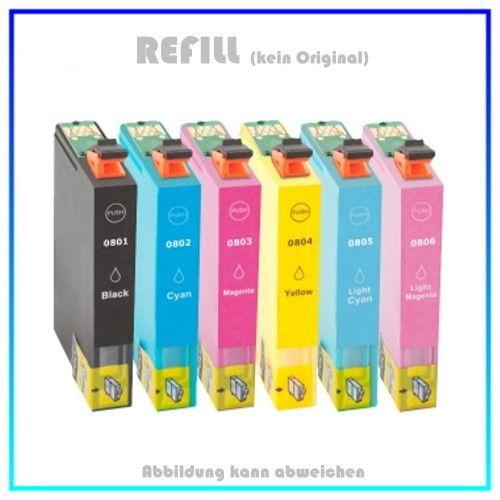 T0801,T0802,T0803,T0804,T0805,T0806 - C13T08074011 Epson Refill Multipack BK,M,ML,C,CL,Y, 6 X 15ml