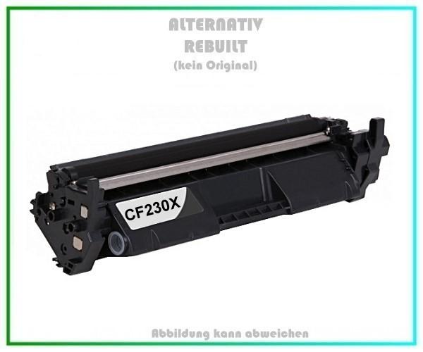 TONCF230X Alternativ Tonerkartusche Black für HP - CF230X - Inhalt 3.500 Seiten