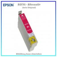 BULK T2713XL Alternativ Tintenpatrone Magenta für Epson - C13T27134010 - Inhalt 10,4 ml
