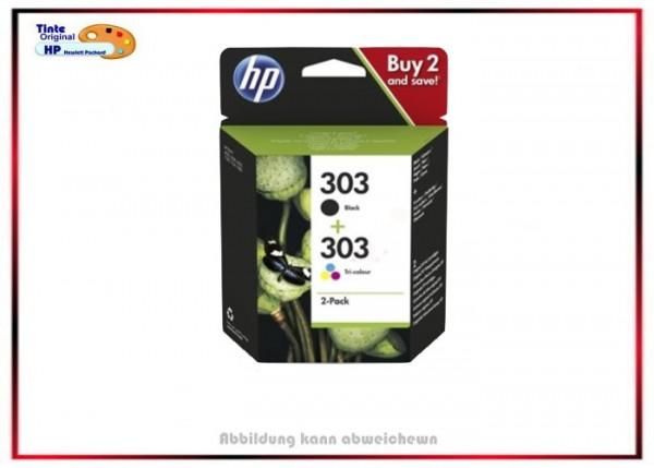 HP Original HP-303 Tintenpatronen 3YM92AE- 2x303 - BK+Color 3YM92AE