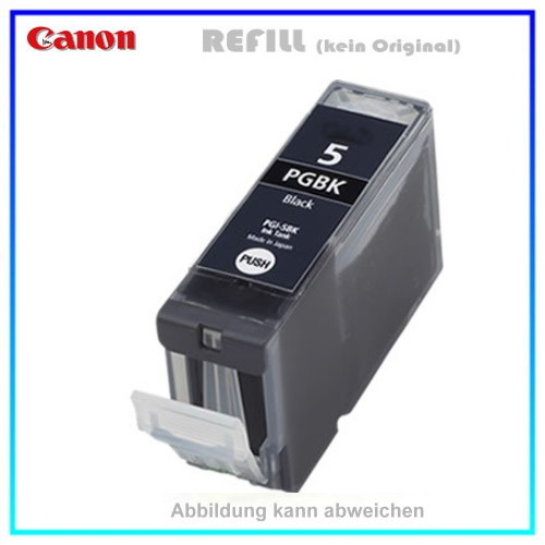 PGI5BK Alternativ Canon Tintenpatrone Black - 0628B001, Armor 314 passend, Inhalt ca. 26ml Chipvers.