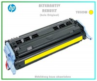 TON6002A, Q6002A, Alternativ Toner Yellow, HP Colorlaserjet 1600N, 2600-N, LBP5000, 2000 Seiten.