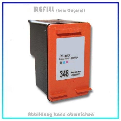 REF348 Refill Fototintenpatrone Farbe Color für HP DJ5740 - DJ6540 - C9369EE - C9369E kompatibel für