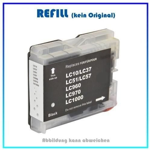 LC1000BK (BULK) Tintenpatrone schwarz f. Brother - DCP-LC-MFC - Inhalt ca. 20ml.