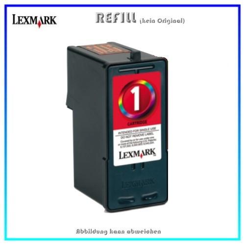 REFLEX1 Refill Tintenpatrone NR.1 Color für Lexmark - 18CX781 - Inhalt 21ml