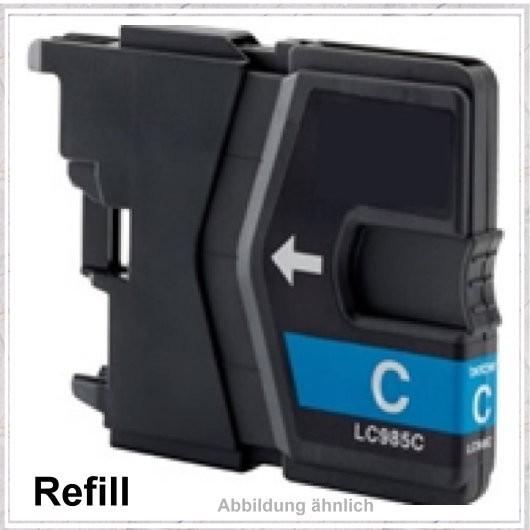 LC985C Alternativ Tinte Cyan für Brother - LC985C, Inhalt 20ml, kompatible Tintenpatrone