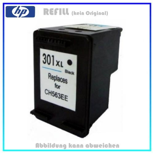 REF301BK XL Refilltintenpatrone Black - HP CH563EE - passend für HP Deskjet 1000 - 1050 - 2050 - 251