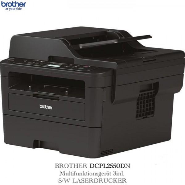 BROTHER DCPL2550DN 3IN1 S/W LASERDRUCKER DCPL2550DNG1 A4/DUPLEX/LAN/MONOCROM