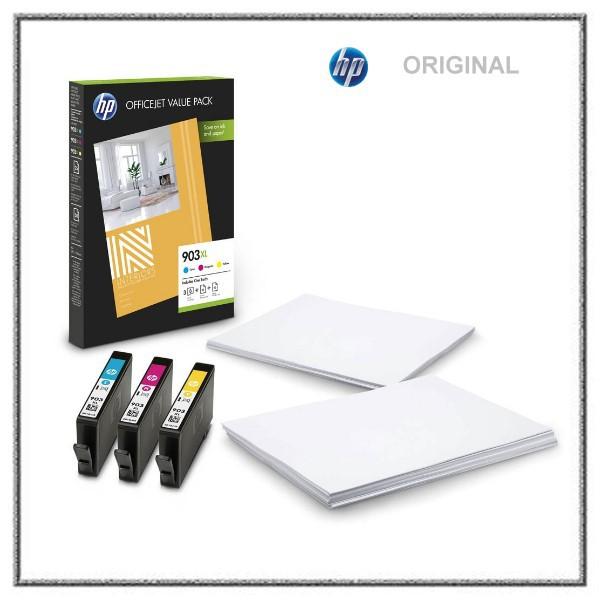 1CC20AE original HP Valuepack c+m+y 903XL - 1CC21CC20AE 1AE - 3 x 825 Seiten + Papier A4