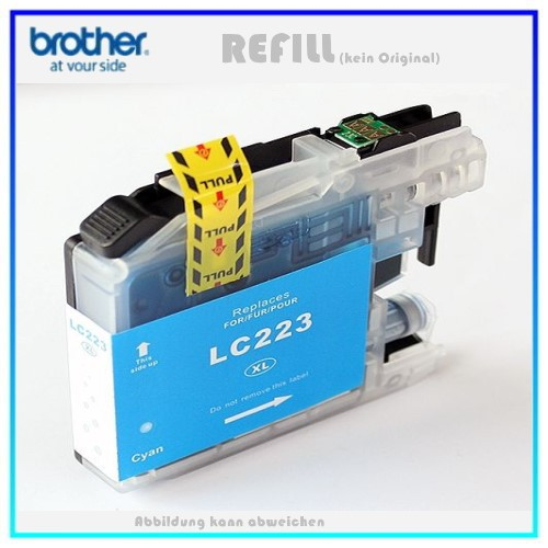 BULK LC223XLC Alternativ Tintenpatrone Cyan für Brother LC223C - Inhalt ca. 10ml