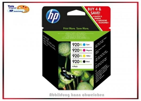 HP-920XL MultiPack, C2N92AE, Original Tintenpatronen OfficeJet Pack, Black=32ml, C,M,Y=je8ml.