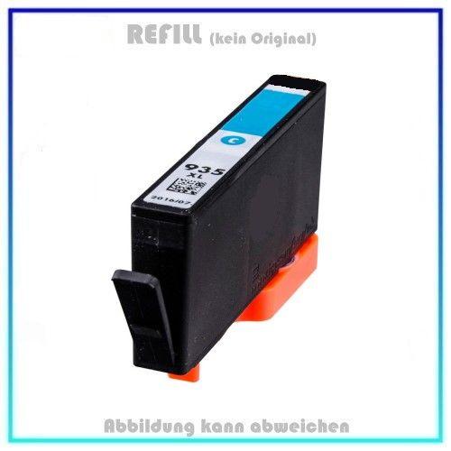 REF935XLC, Refill Tinte Cyan, REF935XL, für HP, C2P24AE - Inhalt 11,0ml, kein Original (PATENT SAFE