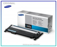 CLP360C - CLT-C406S/ELS - Original Toner Cyan f. Samsung CLP360 - CLP365 - CLX3300, 1000 Seiten