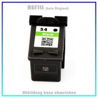 HP-54, REF54 Refill Tintenpatrone Black für HP CB334, Nr. 54, Inhalt 20ml, kein Original
