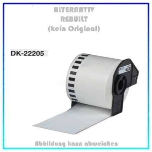 DK-22205 Alternativ Etiketten Endlos 62mm für Brother P-Touch, 30.48m, 62mm x 30,48 m, kein Original