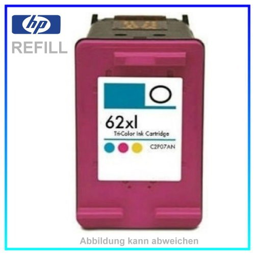 REF62XL Refill Tinte Color für HP - C2P07AE - Inhalt ca. 12,0ml (kein Original)