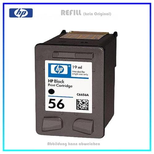 REF56A - Black - refill Tinte für Drucker HP DJ450ci - 5550 - 5552 - PSC1210 - PSC2100Serie - PSC220