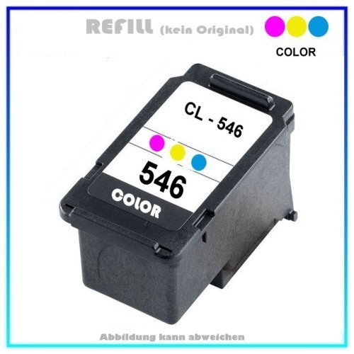 REFCL546XL, CL546XL, Refill COLOR für Canon 8288B001, PIXMA IP2850,IP 2850,MG-2450, Inhalt 13ml