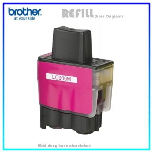 LC900M (Schachtel) Alternativ Tinte Magenta für Brother LC-900M Inhalt 16,6ml (PATENT SAFE)