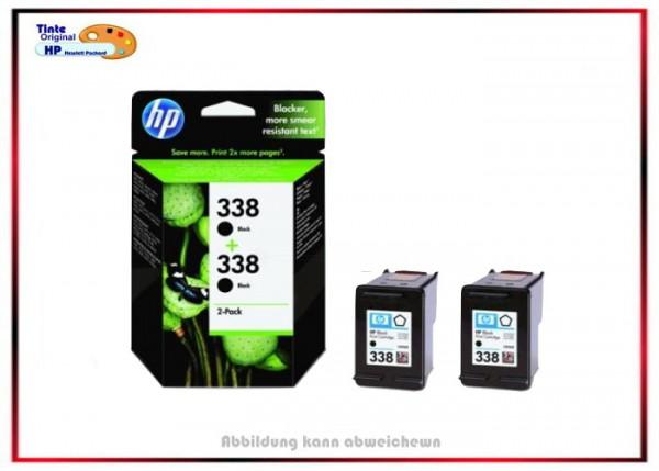 Nr. 338 DOPPELPACK Black - Schwarz CB331EE Original HP - Inhalt ca. 2x450 Seiten