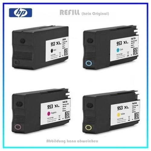 REF953XL-Pack,HP,Refill,Tintenpatronen,Black+Color,Paket,L0S70AE,953XLBK,C,M.Y,BK=56ml,Color-je=25ml