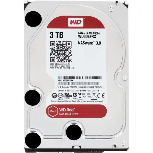 """WD 8.9cm (3.5"""") 3TB SATA3 WD30EFRX 5400 64MB Red intern bulk Western Digital"""