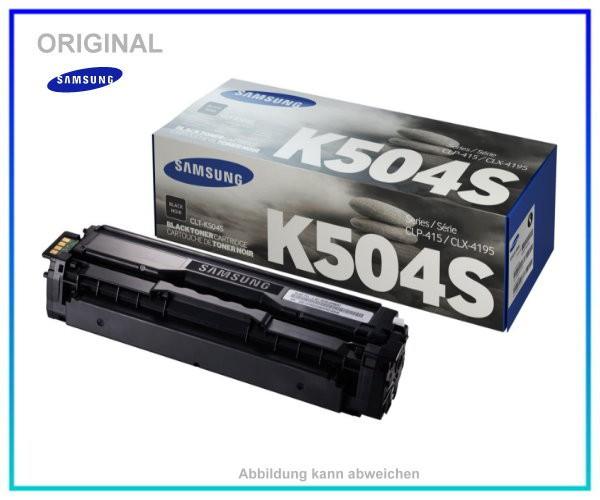 CLP415BK, CLT-K504S/ELS, Original Toner Black fuer Samsung CLP415 - CLX4195 - ca. 2.500 Seiten