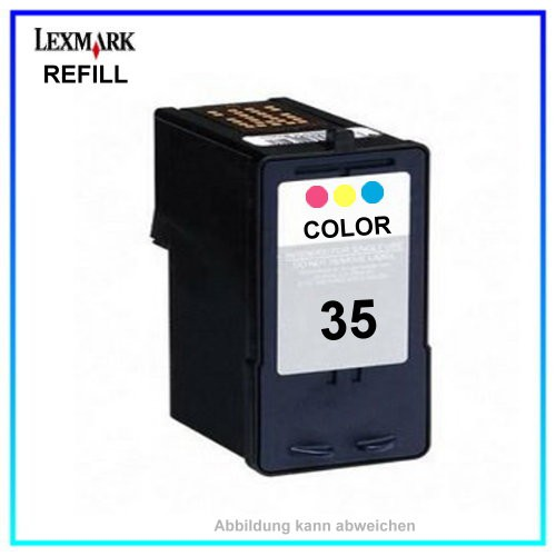 REF0033 Refill Tinte Color f. Lexmark P315 18CX033 18C0035 18C0033 (No.33 - 35) Inhalt ca.18ml
