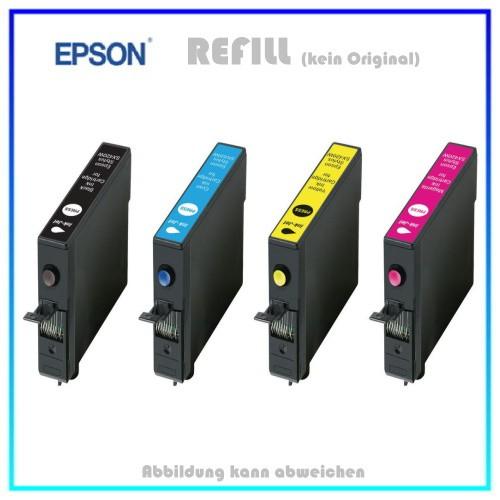MULTIT1295 - (BK+C+M+Y) - Alternativ XXL Sparpaket - Tintenpatronen f. Epson Stylus NX305,NX625,SX12