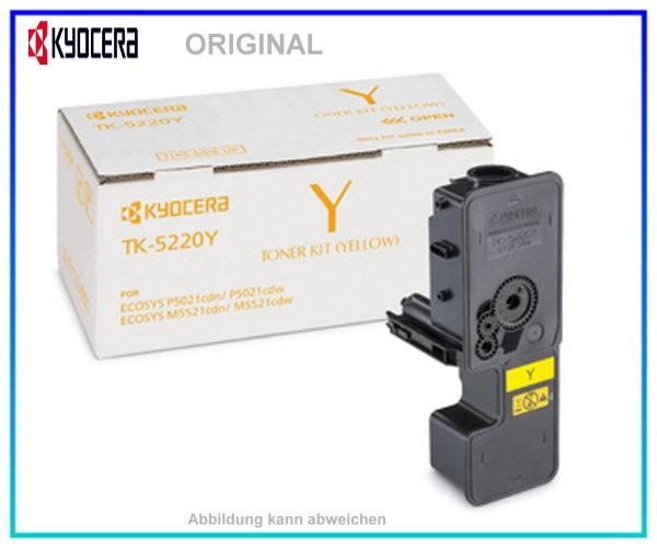 KYOCERA Toner Original Yellow TK-5220Y - 1T02R9ANL1 - Inhalt: 1.200 Seiten