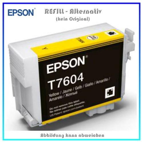 BULK T7604 Alternativ Tintenpatrone Yellow für Epson - C13T76044010 - Inhalt 32ml