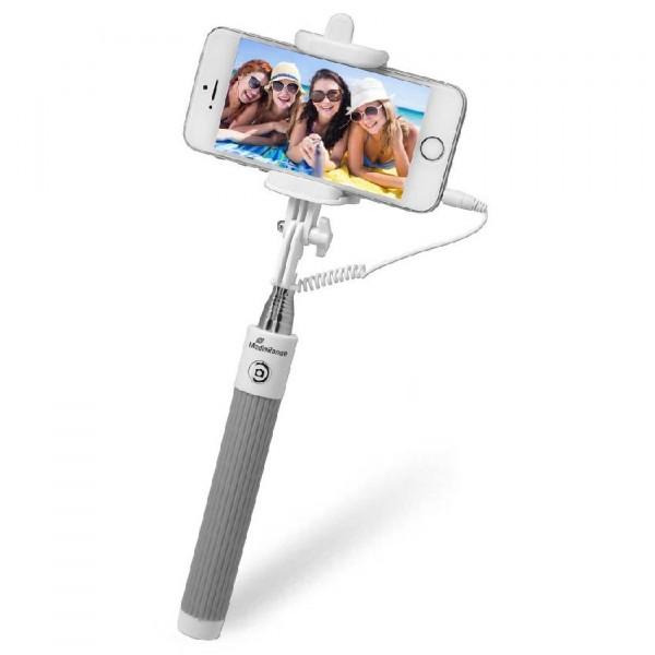 MediaRange Selfie Stick weiß - für Smartphones bis 8,5 cm Breite