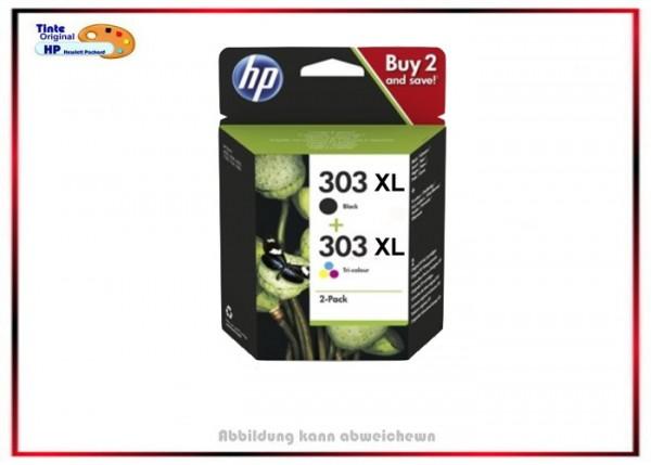 HP Original HP-303XL Tintenpatronen 3YN10AE- 2x303XL - BK+Color 3YN10AE,BK=600S,Color=415S.