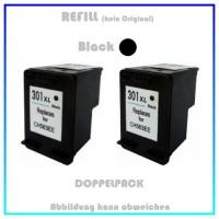 HP-301BKXL, REF301BKXL Doppelpack Refilltintenpatrone 2x Black, HP CH563EE, für HP Deskjet 1000 u.a.